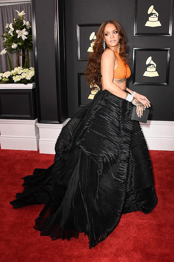 Rihanna at the 2017 Grammy Awards