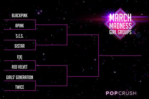 Girl Group Bracket Round 1 March Madness K-Pop Poll
