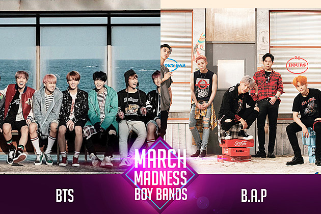 BTS vs. B.A.P PopCrush March Madness Poll