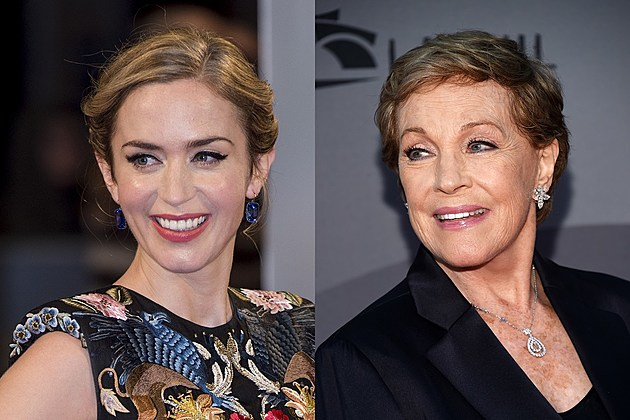 Emily Blunt and Julie Andrews