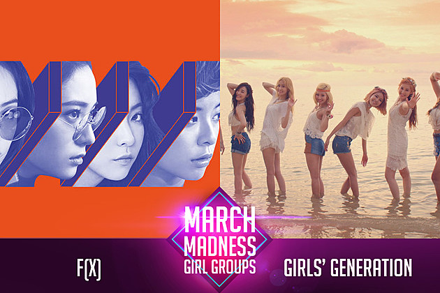 f(x) Girls Generation Girl Group PopCrush March Madness 2017