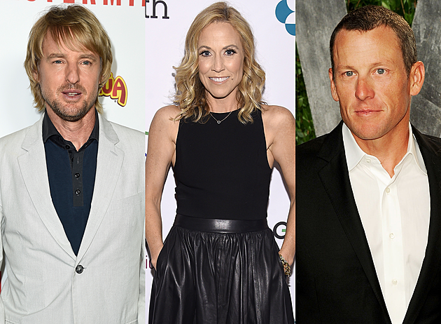 """Owen Wilson & Lance Armstrong: Country-pop chanteuse Sheryl Crow made her acting debut in the 1999 drama flick Minus Man, and held a brief affair with her co-star Owen Wilson. She apparently even wrote a song in Wilson's honor called, """"Safe and Sound."""""""