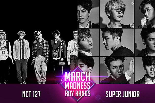 NCT 127 vs. SUPER JUNIOR PopCrush March Madness Poll