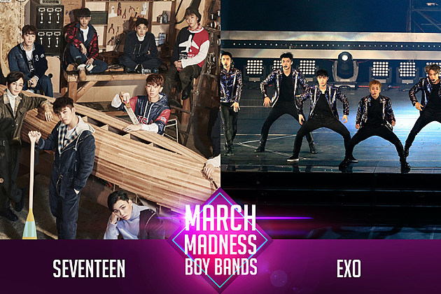 Seventeen vs. EXO March Madness Poll