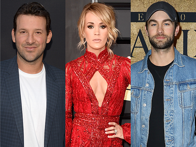"""Tony Romo & Chace Crawford: Carrie Underwood debunked rumors suggesting her song """"Cowboy Casanova"""" was about Dallas Cowboys quarterback Tony Romo, whom the singer supposedly dated for a short time in 2007. """"No. I would never immortalize a guy that did me wrong,"""" she told Esquire."""
