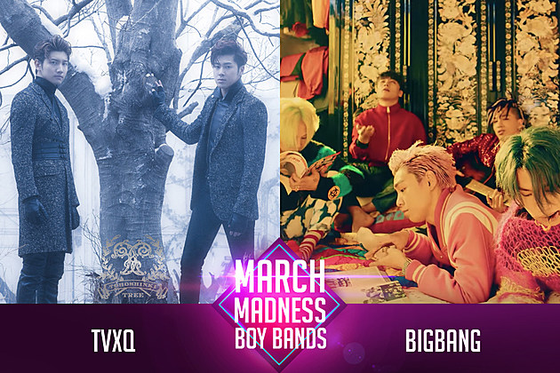 TVXQ vs. BIGBANG PopCrush March Madness Poll