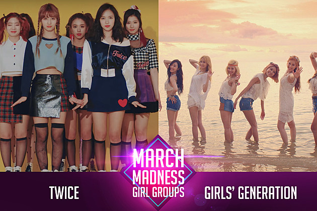 Twice Girls Generation March Madness Poll K-Pop