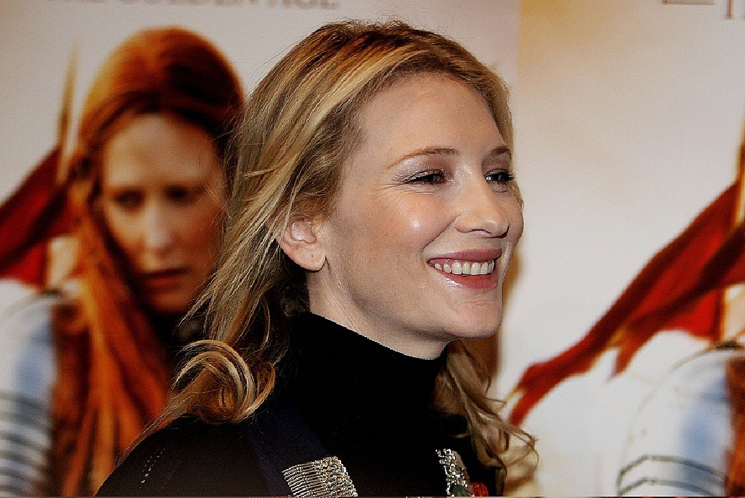 Actress Cate Blanchett leaves following