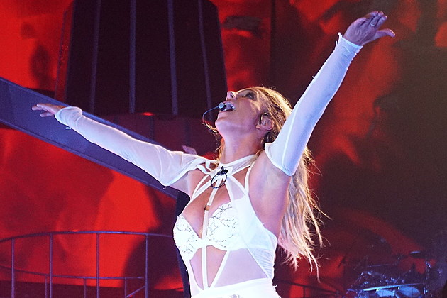 Britney Spears Perform At Axis Theatre Planet Hollywood In Las Vegas