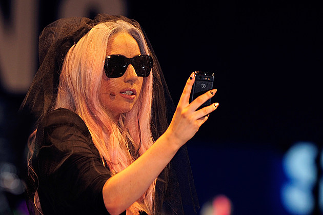 Lady Gaga Makes Appearance At Polaroid Booth At 2011 CES Convention