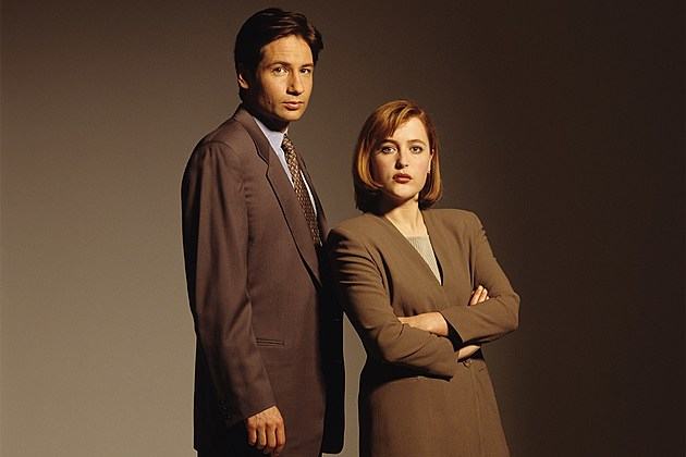 Gillian Anderson and David Duchovny Portrait Session