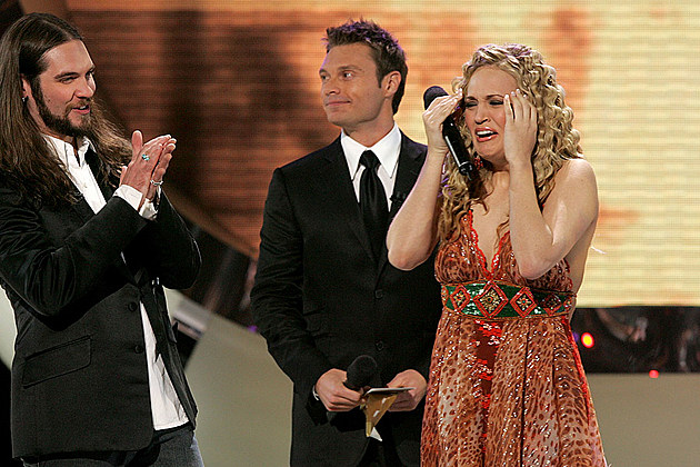 Bo Bice, Ryan Seacrest, Carrie Underwood