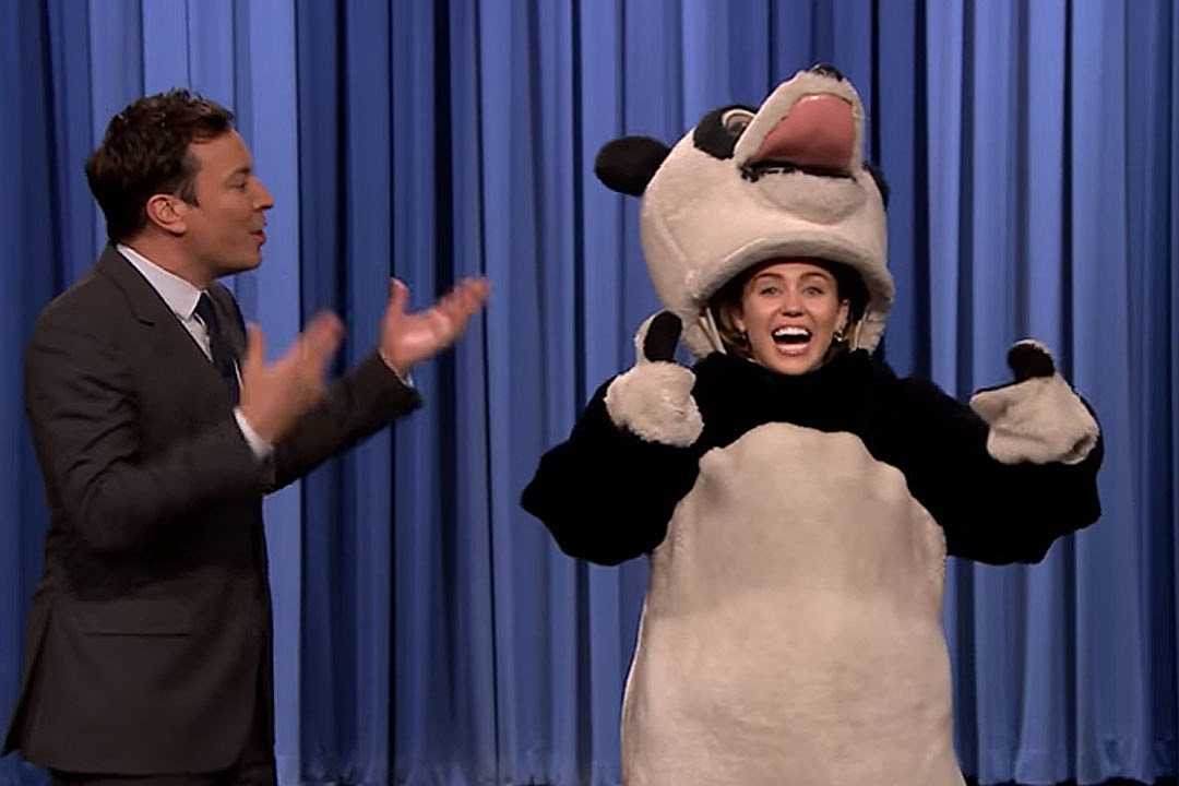 Jimmy Fallon Miley Cyrus