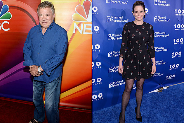 William Shatner and Tina Fey: What's not to like here, right? Shatner has no problem parodying himself and Fey will poke fun at just about anyone.