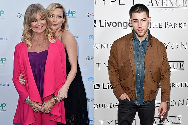 Goldie Hawn, Kate Hudson and Nick Jonas