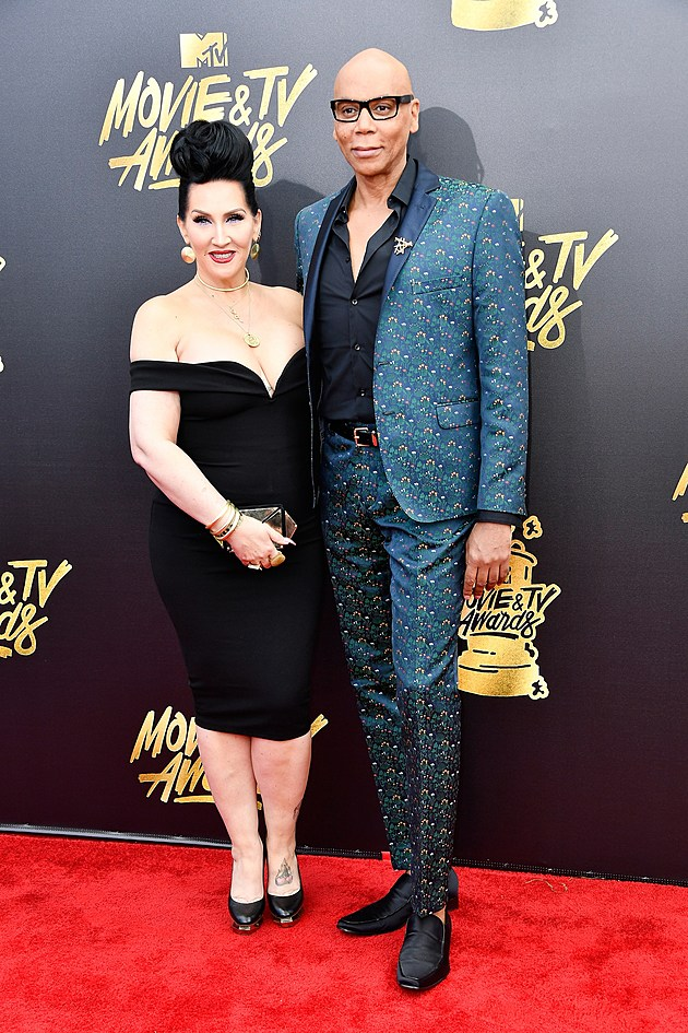 Michelle Visage and RuPaul