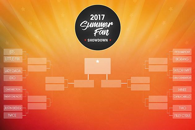 Summer Fan Showdown Bracket 2017
