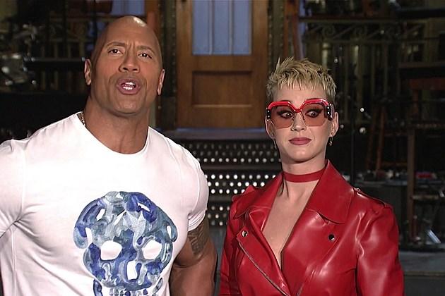 Katy Perry Dwayne Johnson SNL