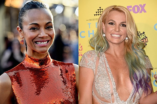 Zoe Saldana and Britney Spears