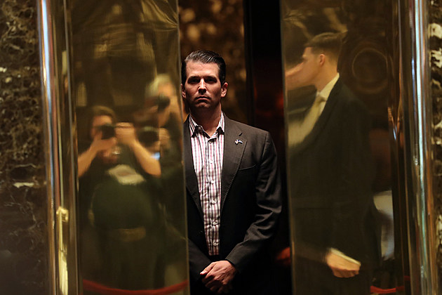 Donald Trump Jr. elevator at Trump Tower