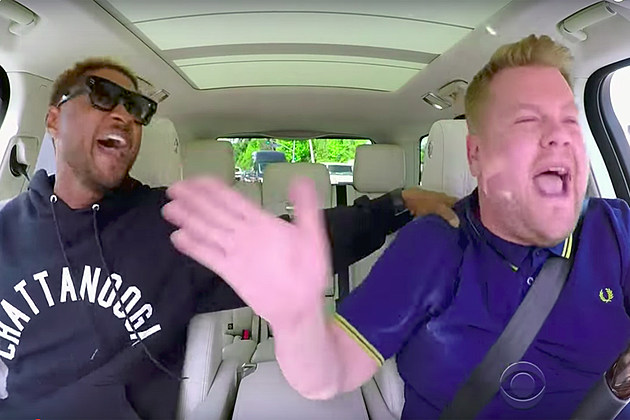 Usher does carpool karaoke