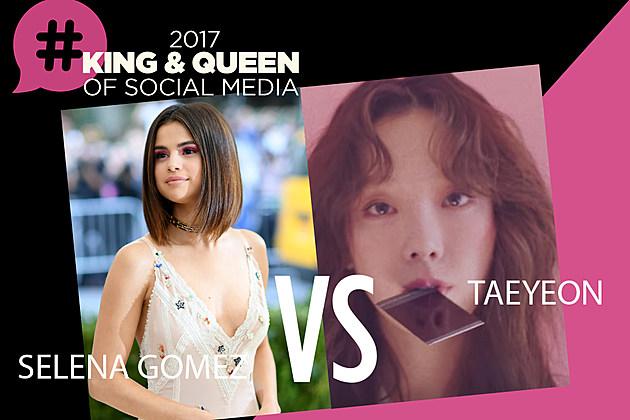 Selena Gomez Taeyeon Queen of Social Media