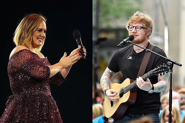 Adele and Ed Sheeran