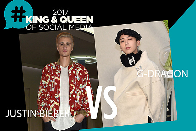 Justin bieber G-Dragon Social Media King Queen