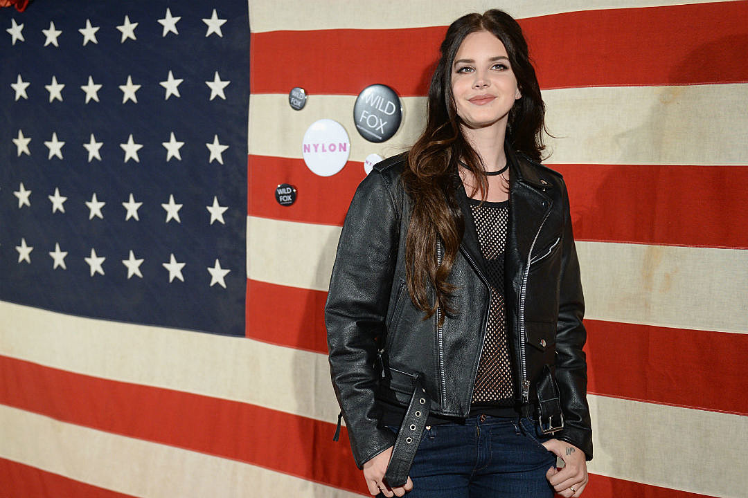 Lana Del Rey American Flag Trump