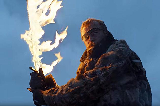 Beric Dondarrion flaming sword