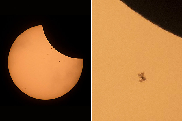 International Space Station during eclipse