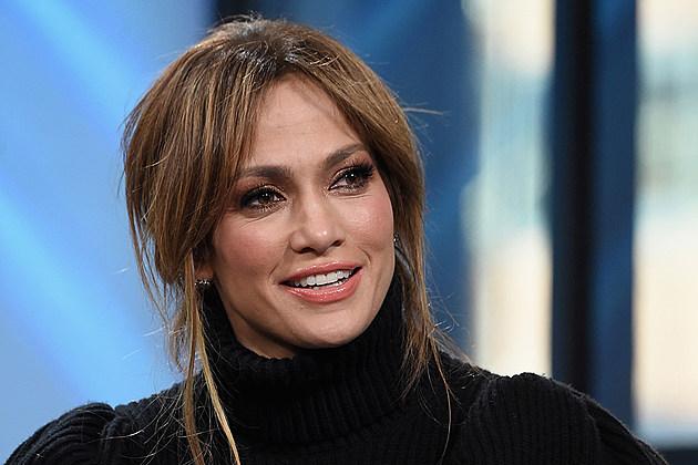 Jennifer Lopez in black turtleneck