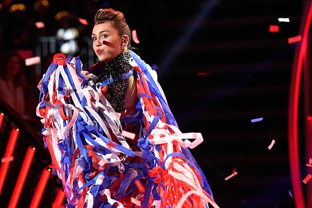 Miley Cyrus red white and blue