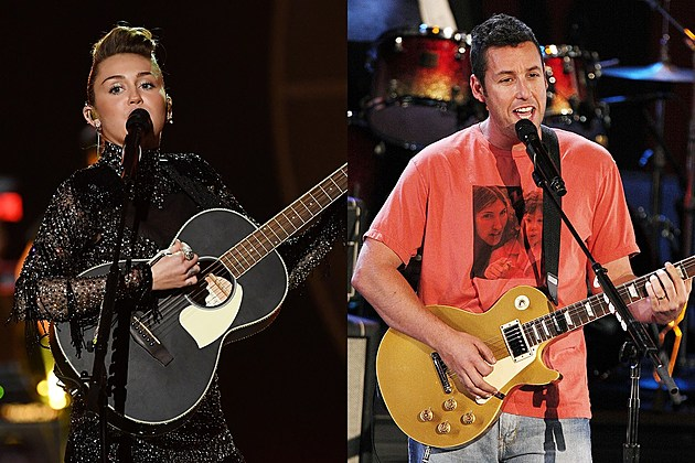 Miley Cyrus and Adam Sandler