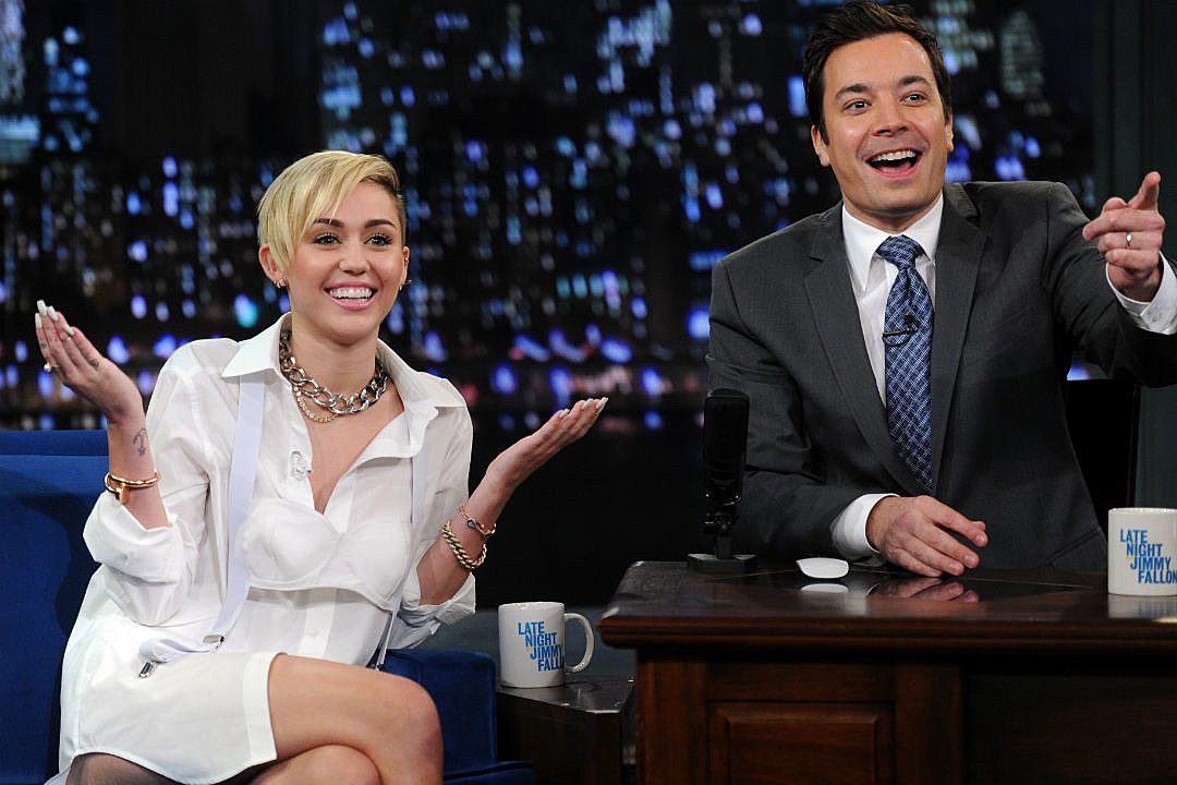 Miley Cyrus Note To Jimmy Fallon