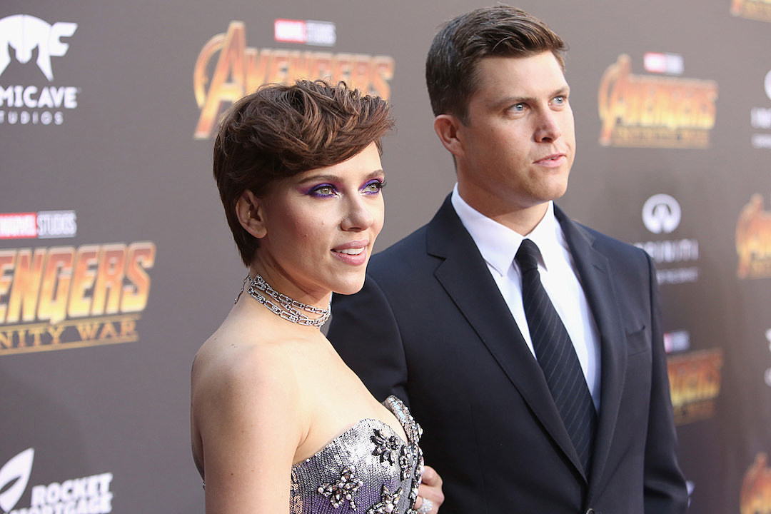 Scarlett Johansson and Colin Jost Make Red Carpet Debut at 'Avengers: Infinity War' Premiere