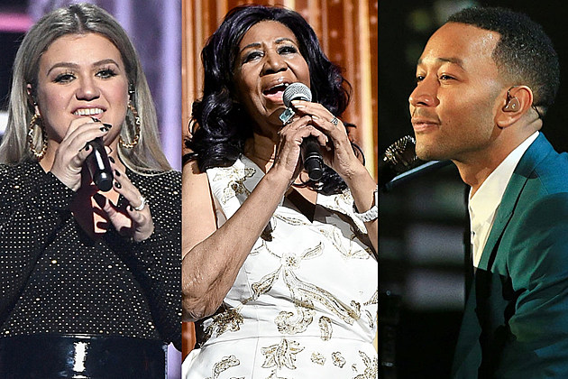 Kelly Clarkson Aretha Franklin John Legend