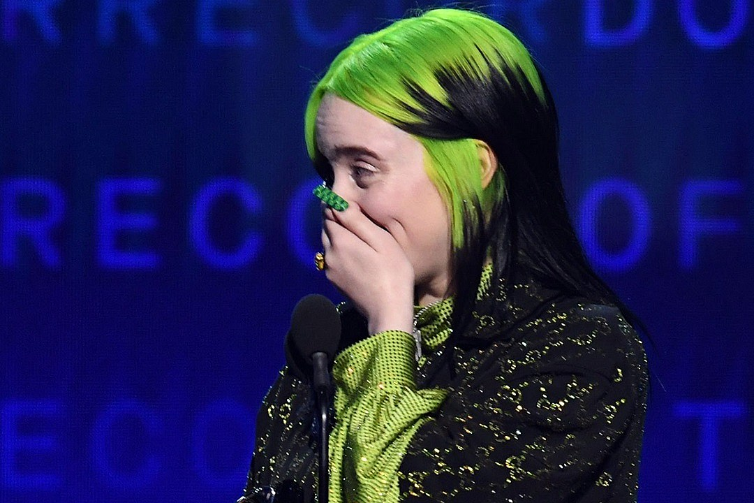 Billie Eilish Gives Two-Word Acceptance Speech for Record of the Year Grammys Win